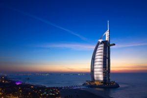 Burj-al-Arab hotel, Dubai (7-star luxury)